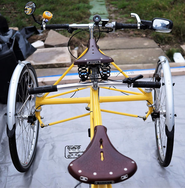 sprung spring leather saddle seat bicycle tricycle bike cycle