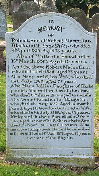 Kirkpatrick Macmillan gravestone