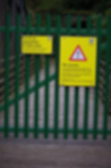 gate, route closure, national cycle network, keswick rail path, cumbria