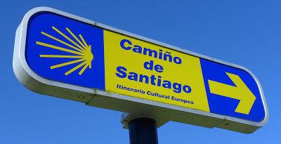 Camino Santiago sign route