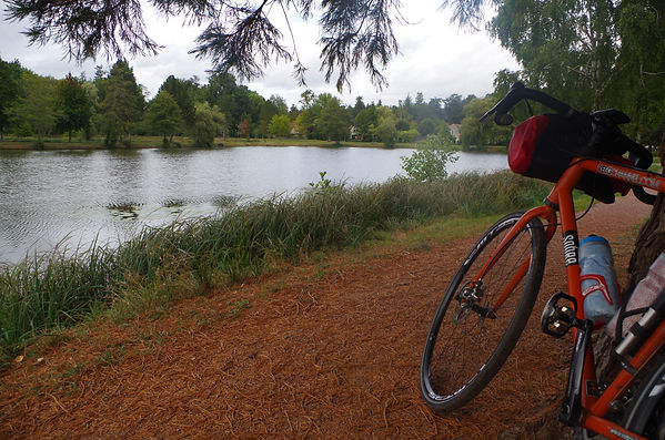 cycle bicycle Rambouillet lake Domaine de Chateau France