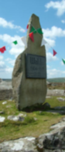 Waldo Williams Preseli monument welsh colours Wales