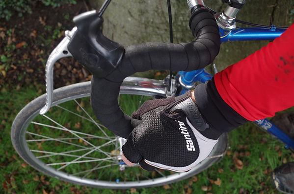 bars handlebar drop leer hood mitt cycle bicycle