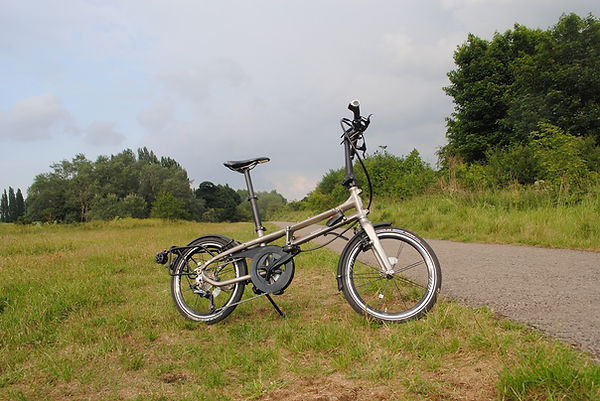 folding bicycle cycle track countryside