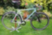 Two Tone Bicycl;e Frame Msakeover Maldon shot Blasting