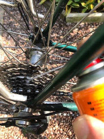 bike bicycle cycle spray maintenance
