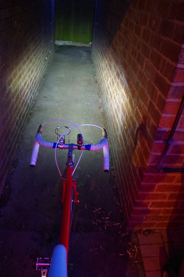 bike light beam bicycle front cycle