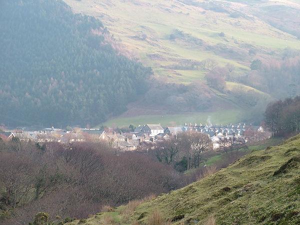Wales village valley Abergynolwen