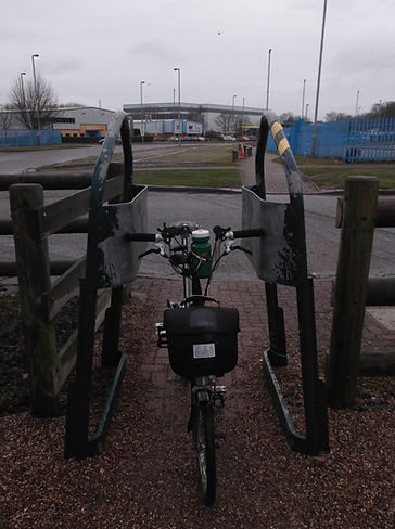 Brompton, narrow gate, cycling infrastructure