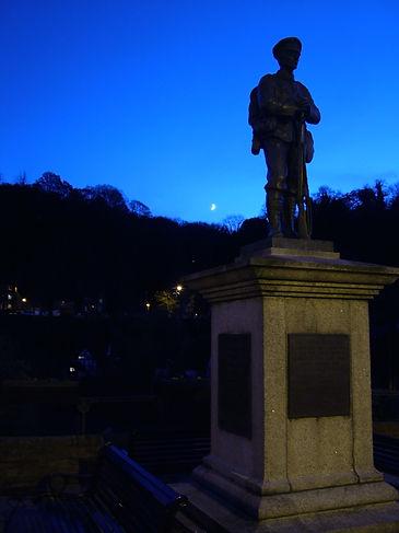 war memorial ironbridge shropshire telford evening