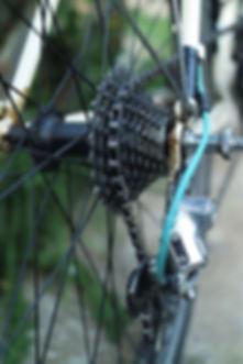 chain cassette gears bike derailleur spokes bicyle
