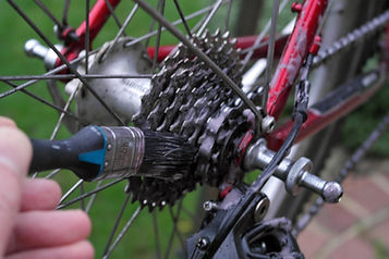 cassette clean bik bicycle gears