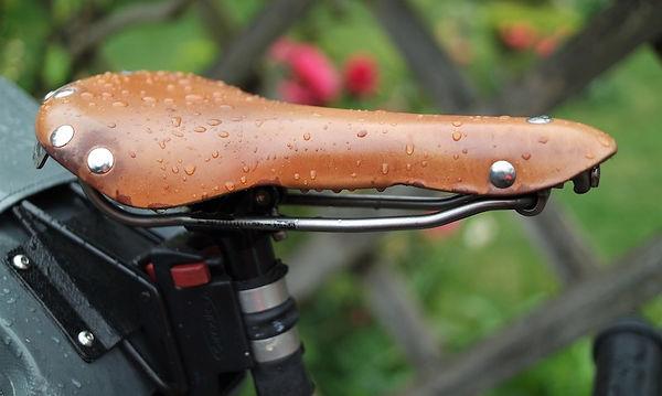 leather saddle seat bicycle bike cycle rain