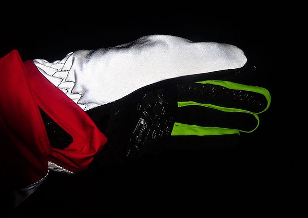 reflective reflector cycling glove be bright safe seen