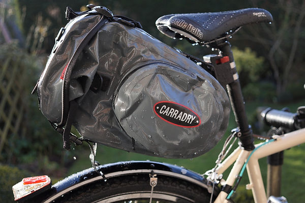 Caaradice carradry SQR Bag seat post test review cycling bicycle tour