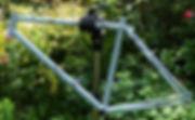 Bike frame in stand