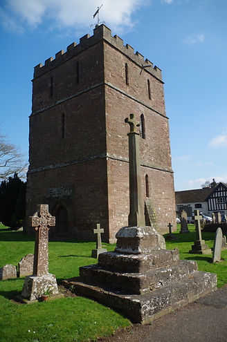 Church tower separate from nave and chancel Bosbury, Herefordshire