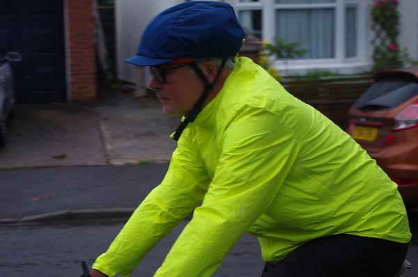 cyclist jacket hiviz helmet cover  rain