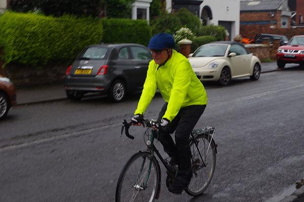 bicycle ride bike cyclist jacket hiviz