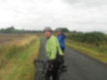 Cyclists, Ayrshire, country road