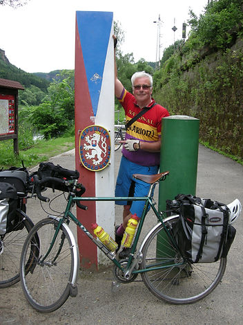 Cycling in the Czech Republic, at the border near Hrensko