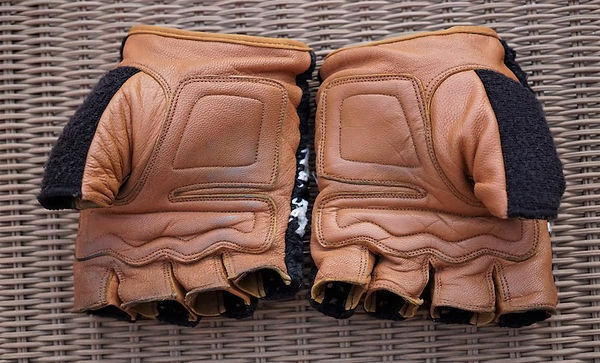 leather palm cycling mitt glove bicycle gear