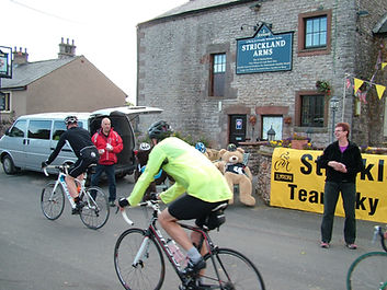 Strickland arms, cyclists, sportive, eden, cumbria