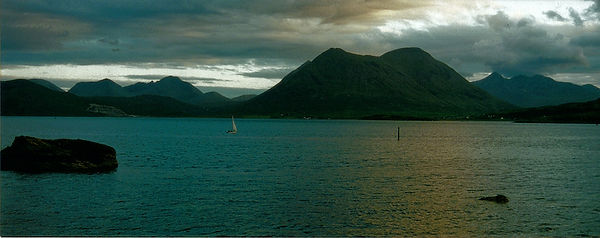 mountains sea Skye island