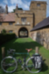 Bicycle Wormleighton Old Hall Gatehouse Warwickshire
