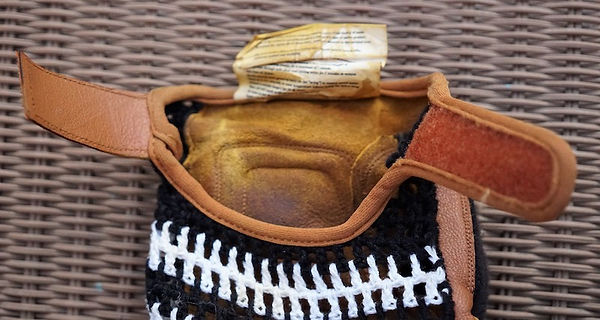 mitt glove cycling bicycle leather