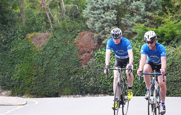 Richard Burt Mike Pridmore Wood climbs cycling one hundred