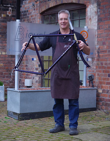 Peter bird Bicycles By Design Coalport with hand-built bespoke frame
