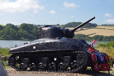 USA Memorial, Slapton Ley, Torcross, Devon, Tank