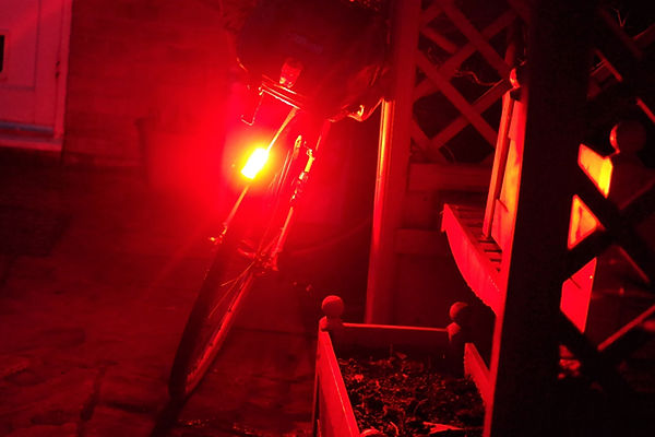 bicycle bike cycle red rearlight bright see sense