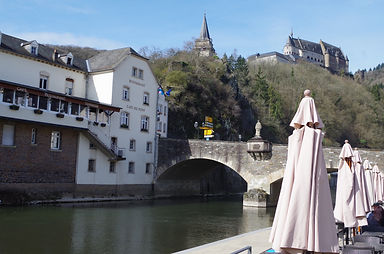 Vianden riverside and castle