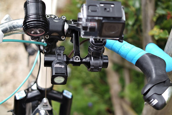 bicyle handlebar light camera accessory mount extender cycling bicycle