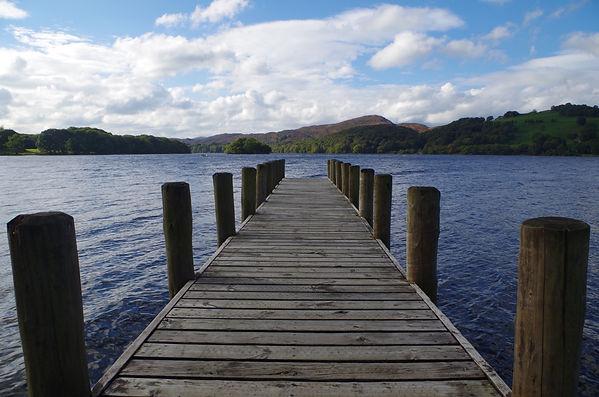 Coniston Water, jetty, lake district, Cumbria
