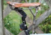 saddle seat leather post suspension
