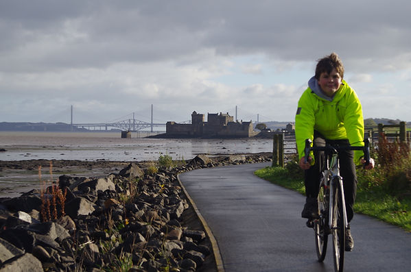 Blackness Castle in the background
