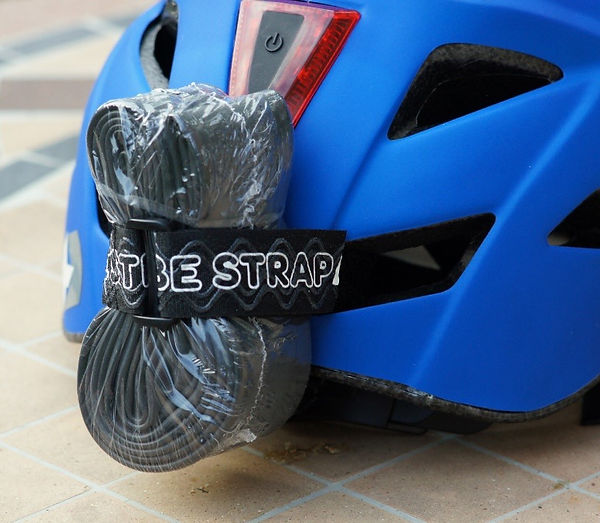 MPW Tube Strap with Inner Tube on cycling helmet