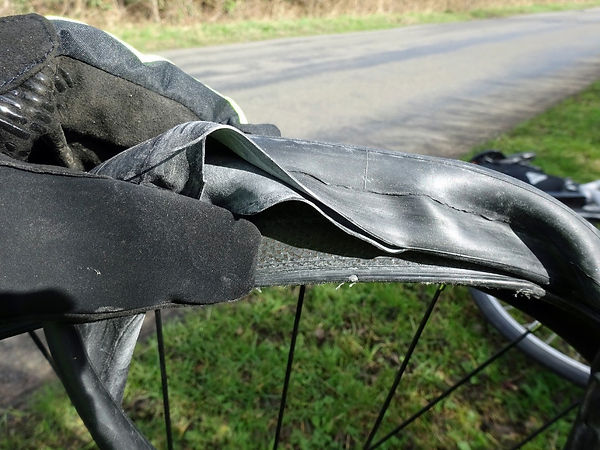 Puncture blown inner tube