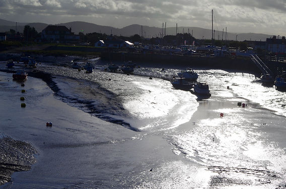 Sunlight Rhyl Harbour from Dragon Bridge