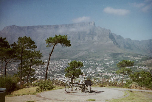 Table mountain, Brompton Bicycle, Cape, Town, South, Africa