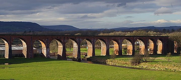 railway viaduct ribble valley whalley
