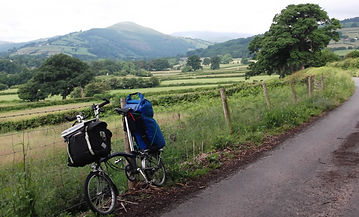 Brompton Camping Loaded Black Mountains Wales