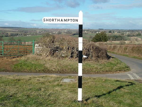 road sign post balck white shorthampton