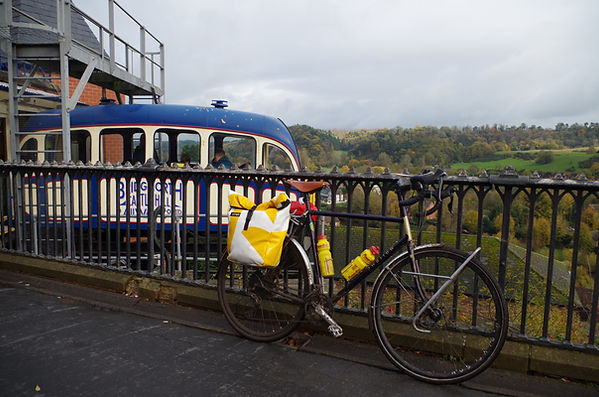 Bicycle, funicular, Bridgnorth, Shropshire, cliff railway