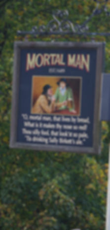 Mortal Man, hotel, Troutbeck, Windermere, Lake district, cumbria, pub, sign, sally birkett