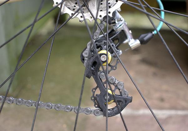 derailleur jockey wheel bicycle cycle bike chain