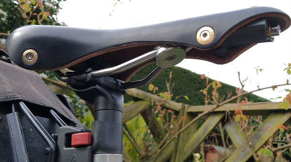bicycle saddle seat leather rail